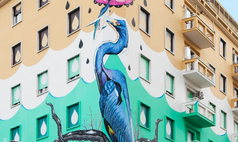 Roma va a caccia dello smog con maxi murales