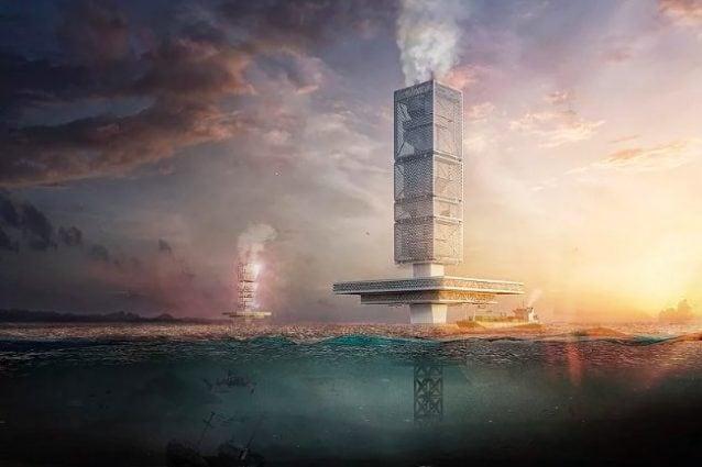 Un grattacielo galleggiante che pulisce i mari dai rifiuti