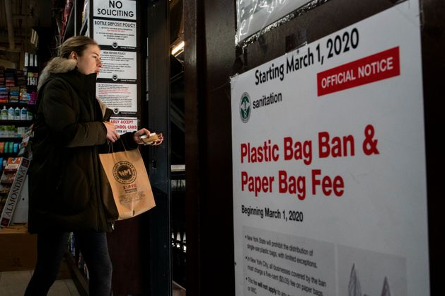 Green Turnover: New York bans plastic bags